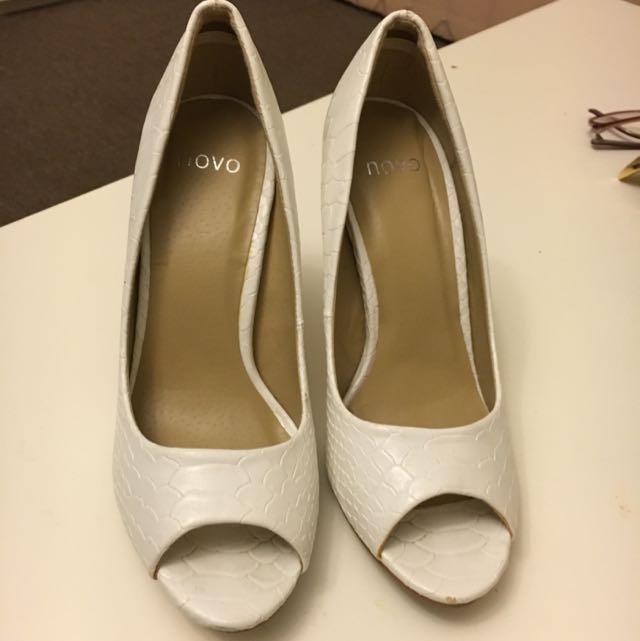 White Cinderella Heels-size 6