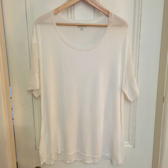 Witchery Tee With Sheer Sleeves