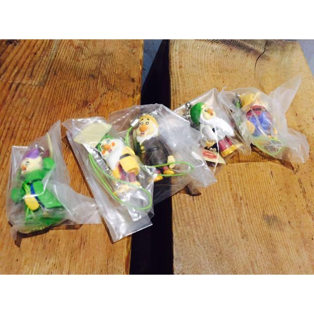絕版 方口 文原聰系列 白雪公主 七個 小矮人五隻yujin Sega 盒玩 扭蛋
