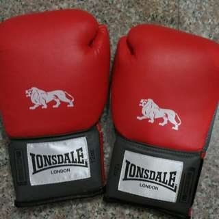 Lonsdale Pro Training Glove 12oz Red