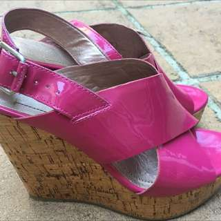 BCBGeneration pink Wedge heel sandles
