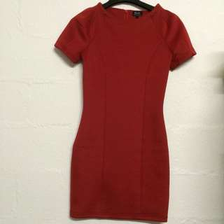 *Reduced - Bardot - Scuba Red Dress - Size 6