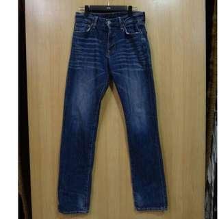 🚚 NT$380含運【二手】UNIQLO 100%棉/牛革 個性有型 時尚百搭美褲