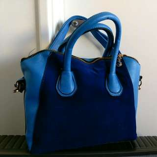 Blue Contrast Handbag PRICE DROPPED