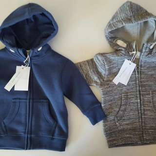2 X Pumpkin Patch Boys Fleece Hoosier Jackets 3-6 months