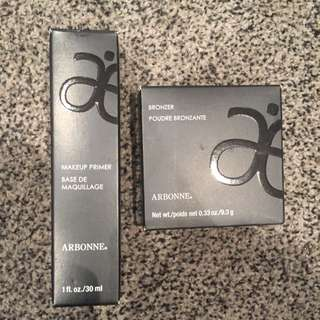 Arbonne Primer And Bronzer New In Boxes