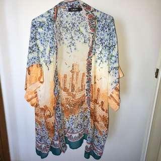 City Patterned Kimono