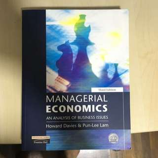 Managerial Economics - An Analysis Of Business Issues
