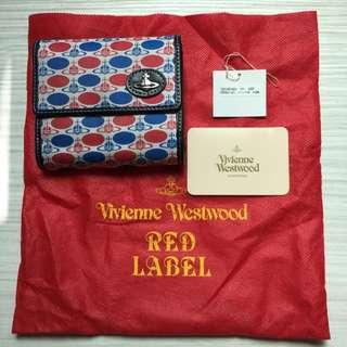 年前出清...Vivienne Westwood 日版 牛皮X帆布 短夾...