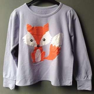 Sweater Ungu Rubah