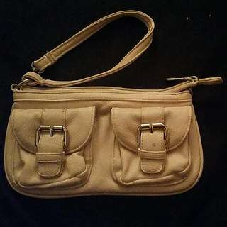 Kate Hill Nude and Gold Wristlet