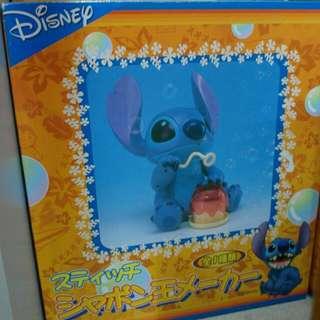 日本 迪士尼 史迪奇 吹泡泡機