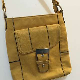 Nine West Mustard Side Bag