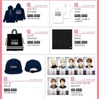 [CLOSED] [PO] BTS 2016 HYYH Live On Stage: epilogue official goods