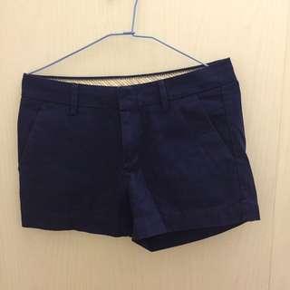 🚚 (全新)Uniqulo 深藍休閒短褲  2號