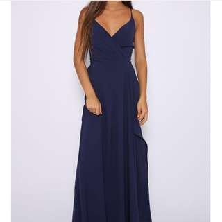 """peppermayo"" Dark Navy Blue Formal Dress"
