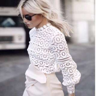 🆕 (Reduced) White Lace Top