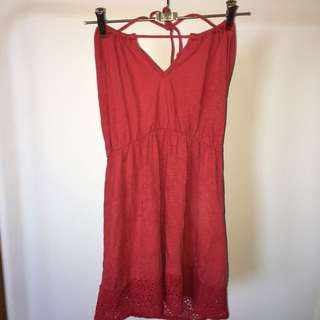 Red Halter Beach Cover Up
