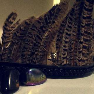 Brown And Black Feather Headband