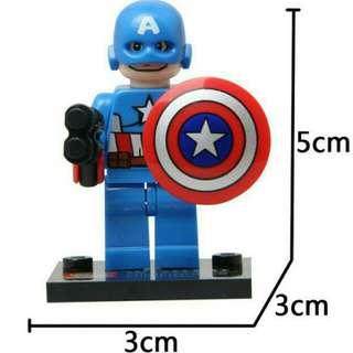 Lego Compatible Captain Amercia