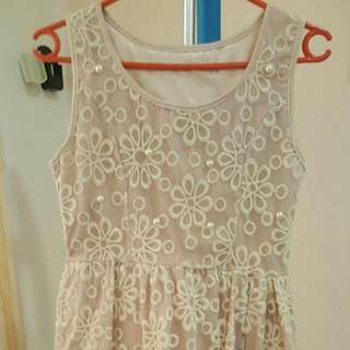 Brand New Crochet Dress With Pearl Detail