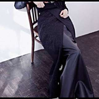 Hijab House Faux Leather Skirt With Wrap Around - 16