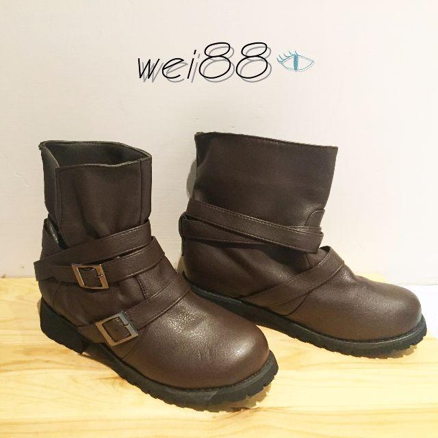 [全新] 咖啡色短筒靴