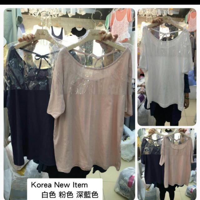 近全新 韓國 特色綿質好穿搭流蘇 綁帶上衣