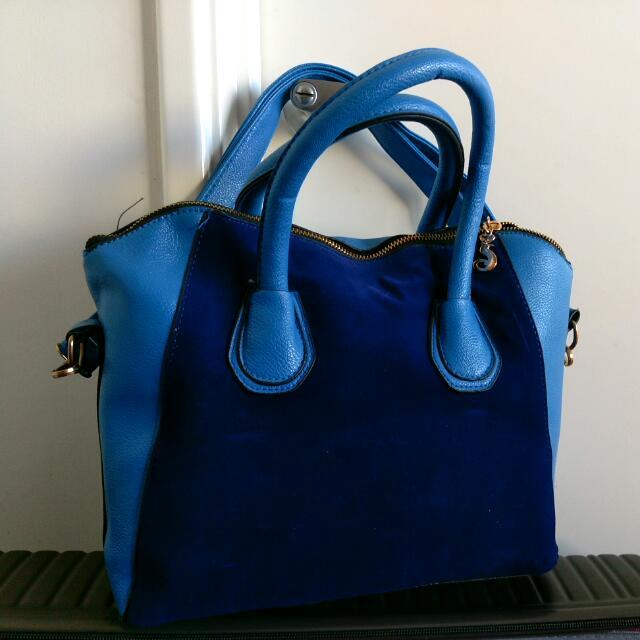 Blue Contrast Handbag PRICE DROPPED