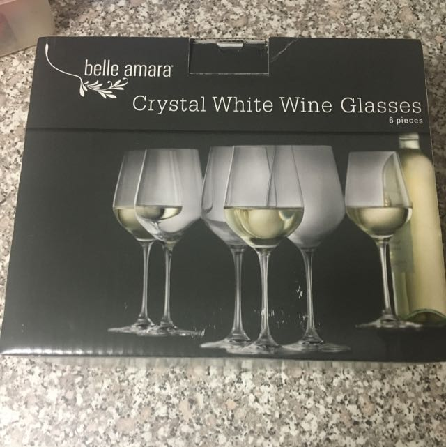 Crystal White Wine Glasses
