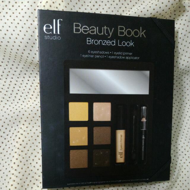 Elf美妝書 (煙燻妝) 含運 內含六色眼影 眼部打底膏 眼線筆 雙頭綿刷
