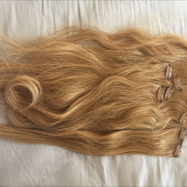 Full Set Of Human Hair Extensions PENDING