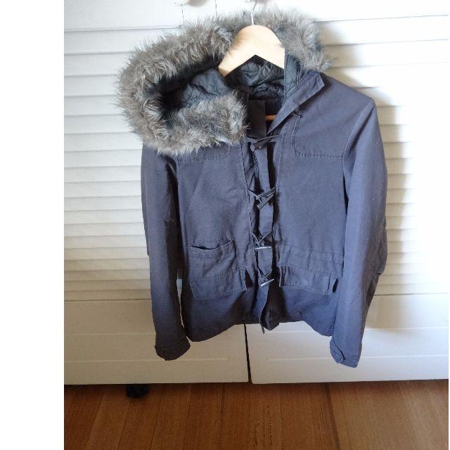 Just Jeans Khaki Fur Hood Duffle Coat Size 10