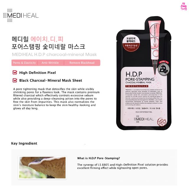 In Stock ] Mediheal H D P Pore Stamping Charcoal-Mineral