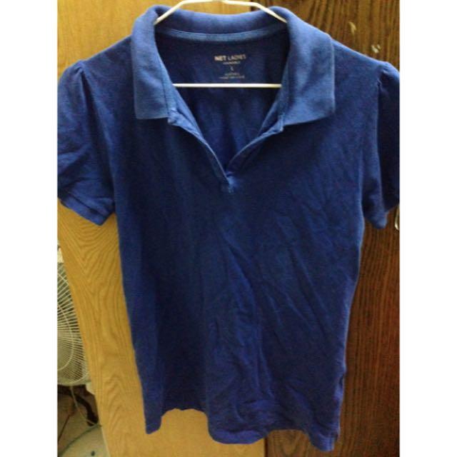 net寶藍polo衫