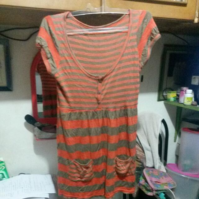 Orange Stripes Dress