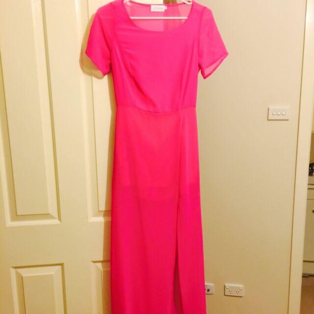 Pink Maxi Dress size 10