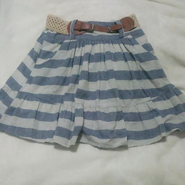 Pre-Loved Striped Valleygirl Skirt S8