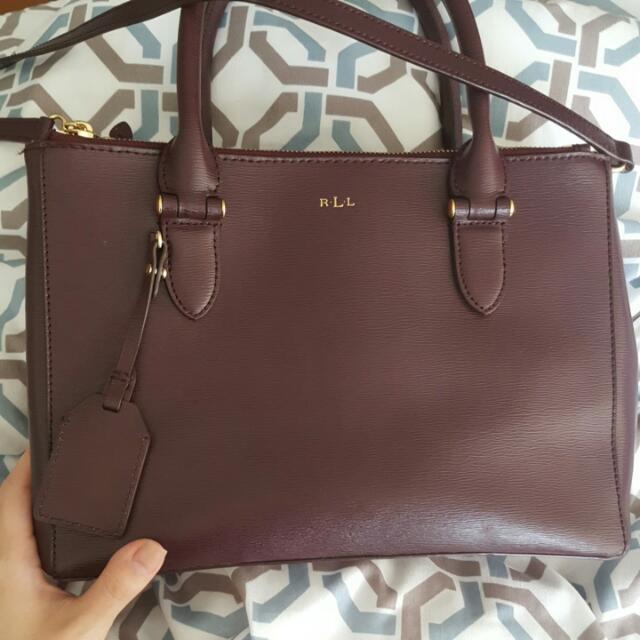 Ralph Lauren Double Zip Handbag