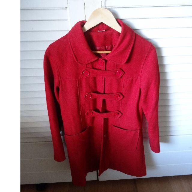 Red Wool Paddington Coat