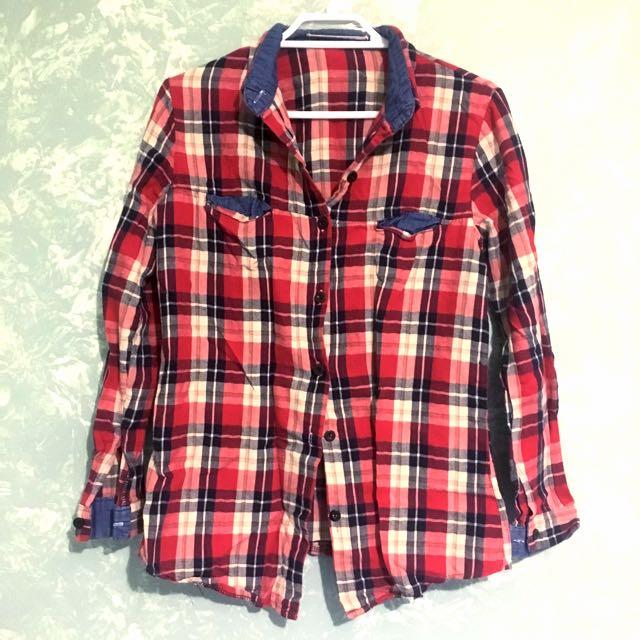 RedBlue Plaid shirt