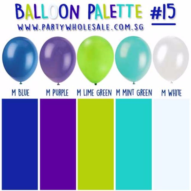 SALE Helium Balloons Party Inspiration Palette For Birthday Event