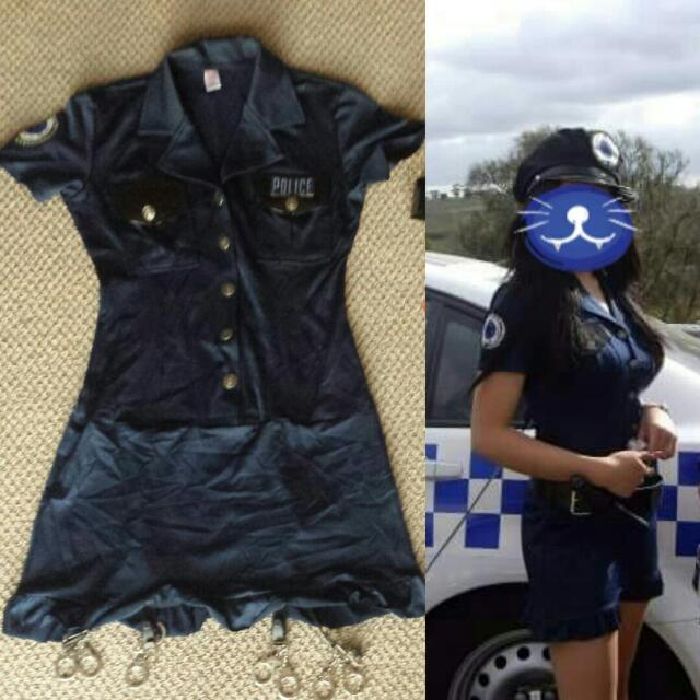 *PENDING*Sexy Police Woman Costume +Props