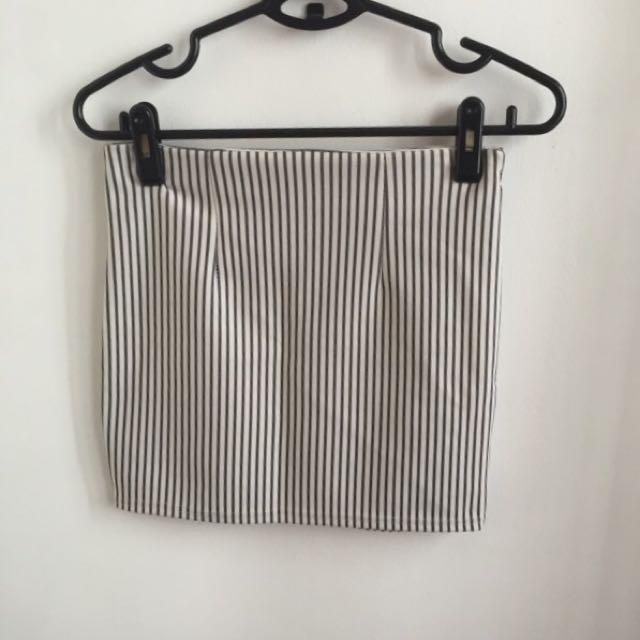 Striped bandage skirt