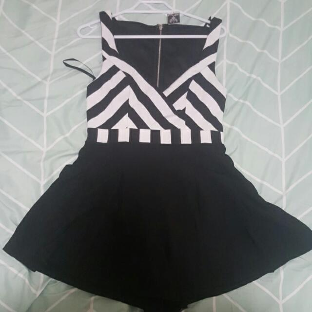 Striped Playsuit From Villans