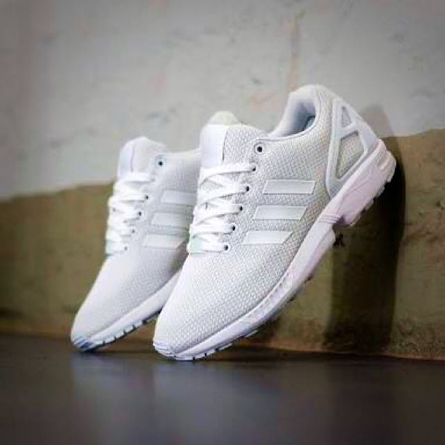 Triple White ZX Flux SZ UK11