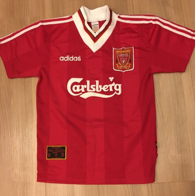 acda75fecf6 Vintage Liverpool Home Jersey 95/96, Sports on Carousell