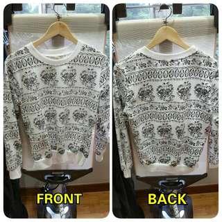 White Design Pullover
