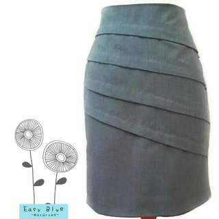 Solemio Office Skirt in Gray Color