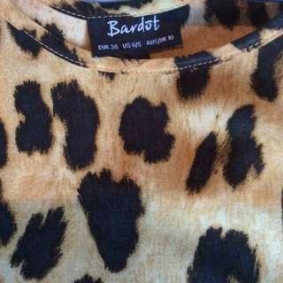 Bardot Leopard Top